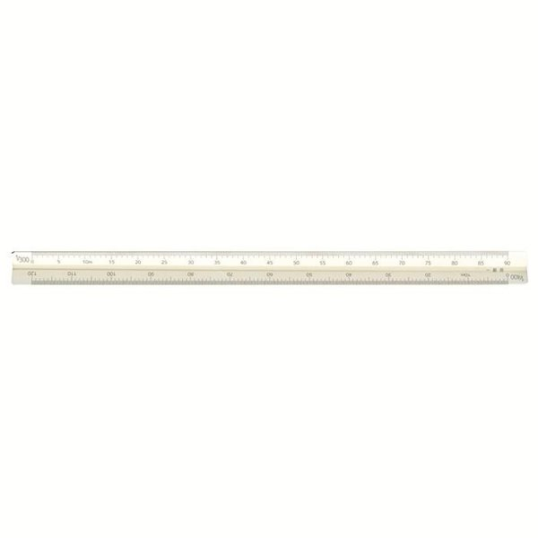 アルミ三角スケール30cm一般用ホワイト 014-0207