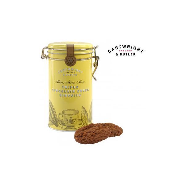 送料無料 Cartwright&Butler カートライト&バトラー トリプルチョコレートビスケット 6缶 10041056   クッキー お菓子 イギリス 代引き不可/同梱不可