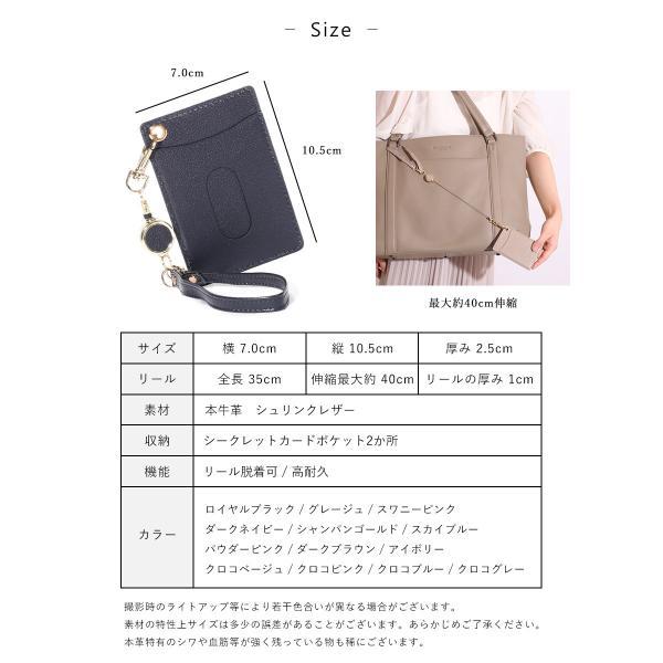 パスケース メンズ リール付き レディース 定期入れ 本革 2枚 カードケース 薄型 ブランド 免許証入れ ポイント消化|magokoroya-yahuu|11