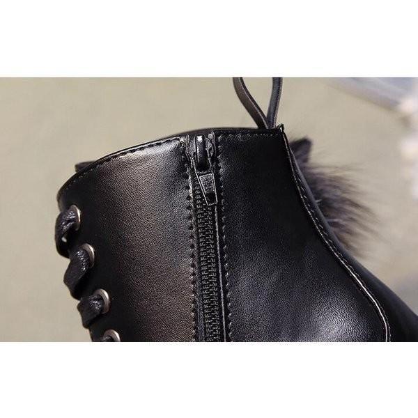 レディース ワークブーツ秋冬 裏起毛  編み上げブーツ ショート丈厚底 大きいサイズあり  レースアップシューズ 歩きやすい 痛くない