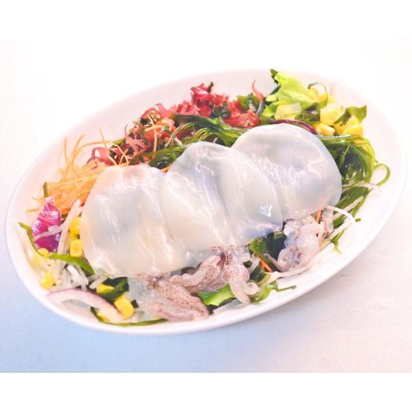 ヤリイカ 姿造りゲソ付き 1パック(20杯入り)300g × 5パック お刺身用|maguro-miyako|03