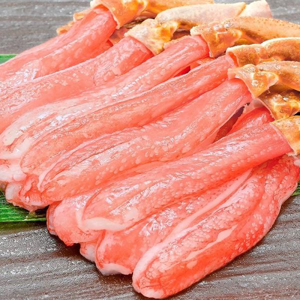 かにしゃぶ用 生ズワイガニ むき身 3L 500g (BBQ バーベキュー) (かに カニ 蟹) ポーション maguro-ousama 02