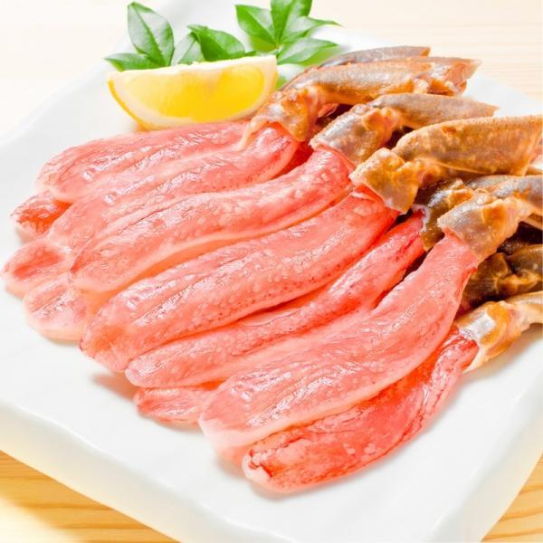 かにしゃぶ用 生ズワイガニ むき身 3L 500g (BBQ バーベキュー) (かに カニ 蟹) ポーション maguro-ousama 04