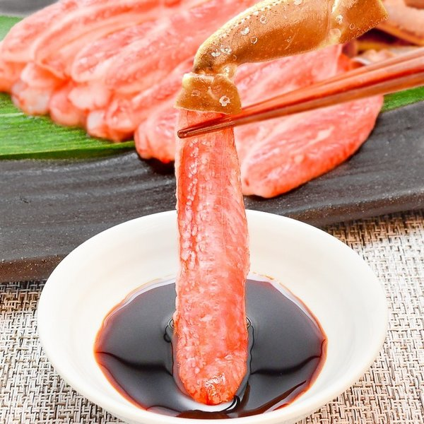 かにしゃぶ用 生ズワイガニ むき身 3L 500g (BBQ バーベキュー) (かに カニ 蟹) ポーション maguro-ousama 08