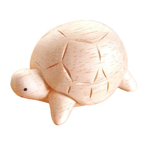 ぽれぽれ動物雑貨 (カメ かめ 亀) 手作り木彫り置物 ハンドメイド|mahalohana|05