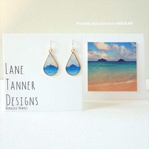 ゴールド NA MOKULUA ピアス / イヤリング From ハワイ [ LaneTanner Designs