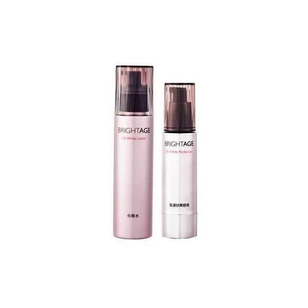 ブライトエイジ 化粧水 乳液状美容液 スキンケアセット リフトホワイト ローション パーフェクション 2点セット|mahina-market