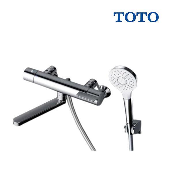 在庫あり TOTO浴室用水栓金具TBV03403JGGシリーズ壁付サーモスタット混合水栓(コンフォートウェーブめっきシャワー)
