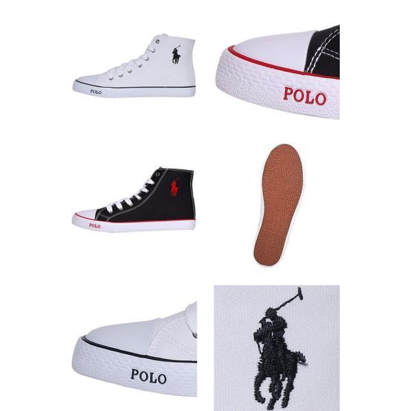 ポロ ラルフローレン Polo Ralph Lauren スニーカー 正規 レディース ハイカット 白 赤 黒 きれいめ ブランド Carson Lace Hi