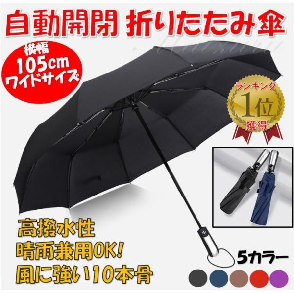 折りたたみ傘 折り畳み傘 ワンタッチ 自動開閉 撥水加工 丈夫 大きい 晴雨兼用 メンズ レディース maiduruhonpo