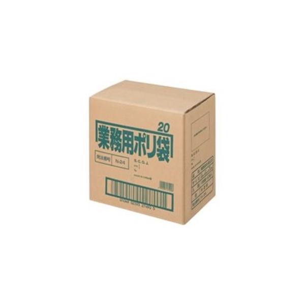送料無料 日本サニパック ポリゴミ袋 大幅にプライスダウン N-24 10枚 !超美品再入荷品質至上! 60組 20L 半透明