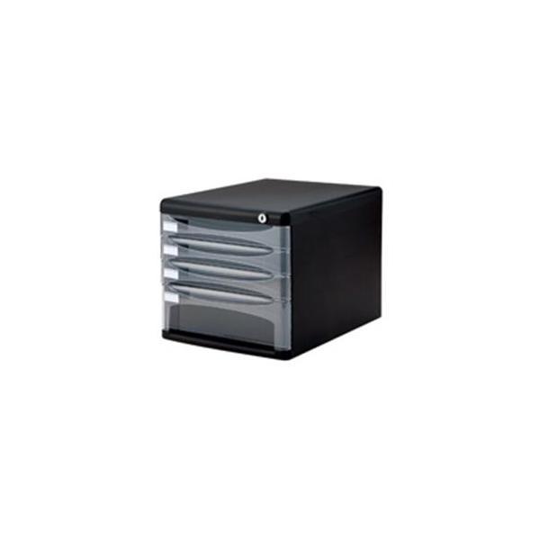 送料無料 ナカバヤシ デスクトップ4段 ブラック 倉庫 ストア A4-SK4D