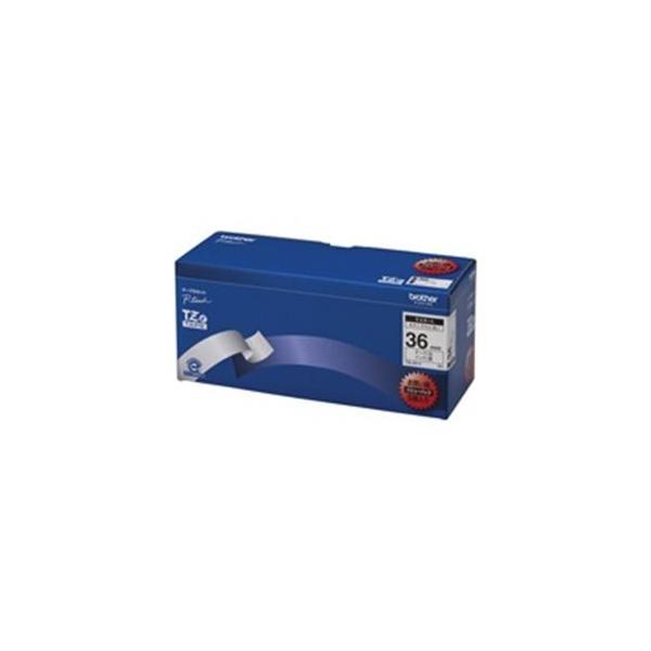 送料無料 brother ブラザー工業 文字テープ/ラベルプリンター用テープ 〔幅:36mm〕 5個入り TZe-261V 白に黒文字