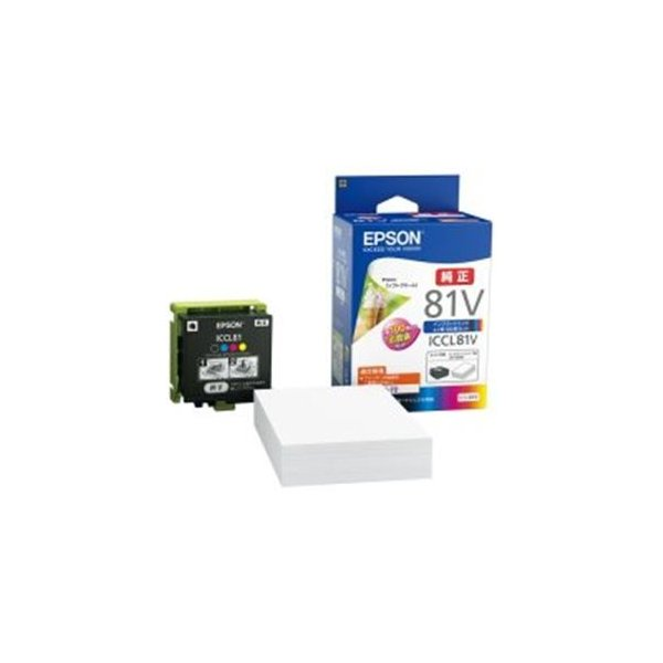 <title>送料無料 直送商品 EPSON エプソン モバイルインク ICCL81V 4色+用紙セット</title>