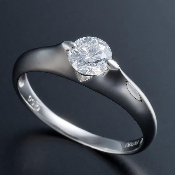 送料無料 プラチナPt900 0.5ct Dカラー・IFクラス・EXカットダイヤリング 指輪(GIA鑑定書付き) 17号