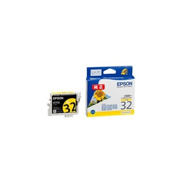 <title>送料無料 通常便なら送料無料 業務用4セット EPSON エプソン インクカートリッジ 純正 〔ICY32〕 イエロー 黄</title>