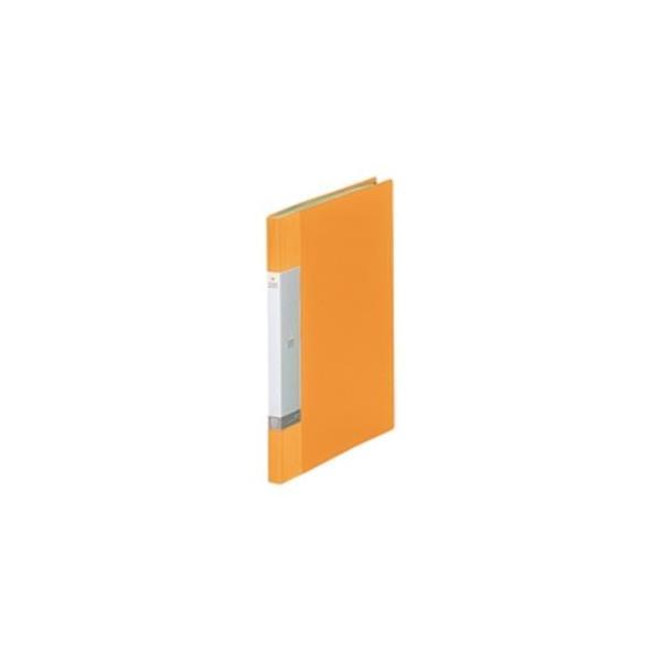 送料無料 業務用20セット LIHITLAB クリアブック クリアファイル リクエスト 〔A4 タテ型〕 20ポケット 固定式 黄 年間定番 G3201-5 ※ラッピング ※