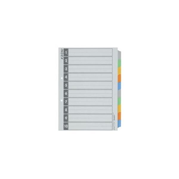 送料無料 業務用10セット ジョインテックス インデックスA4S 5色10山 代引き不可 D026J-10Y 最安値 5組