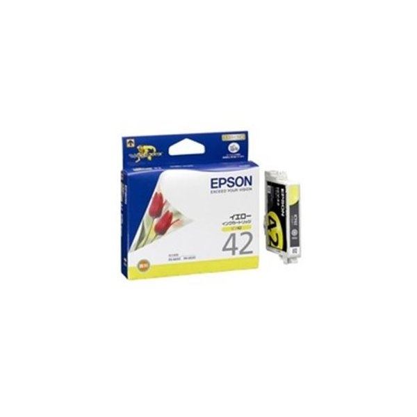 <title>送料無料 デポー 業務用4セット EPSON エプソン インクカートリッジ 純正 〔ICY42〕 イエロー 黄</title>