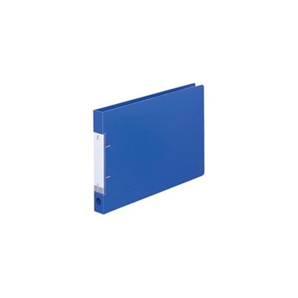 送料無料 人気ブランド 業務用10セット LIHITLAB D型リングファイル 〔B4 ヨコ型 青 高品質 34mm G2227-8 2穴〕