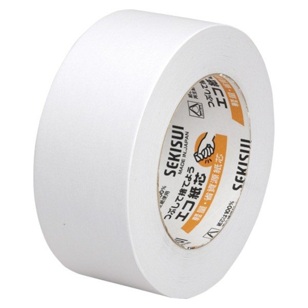 送料無料 (まとめ) セキスイ カラークラフトテープ No.500カラー K50WW13 白 1巻入 〔×10セット〕