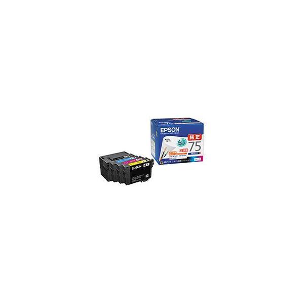 今だけスーパーセール限定 送料無料 まとめ エプソン EPSON インクカートリッジ 大容量4色パック IC4CL75 お求めやすく価格改定 1箱 4個:各色1個 〔×3セット〕