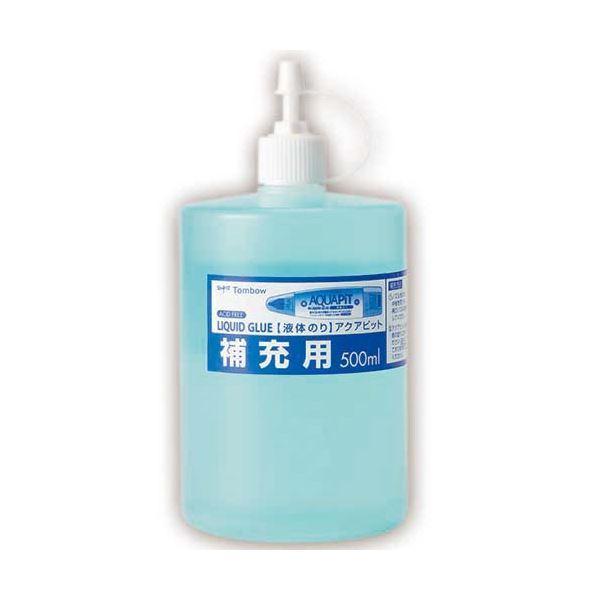 送料無料 (まとめ) トンボ鉛筆 液体のり アクアピット 補充用 500ml PR-WT 1個 〔×10セット〕