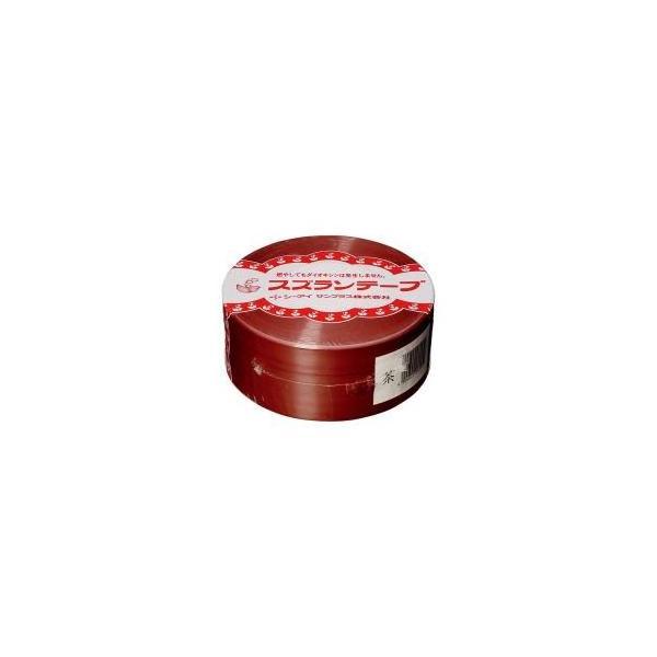 送料無料 (業務用100セット) CIサンプラス スズランテープ/荷造りひも 〔茶/470m〕 24202018