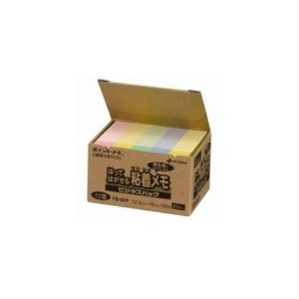 送料無料 (業務用50セット) ニチバン ポイントメモ再生紙 FB-6KP パステル