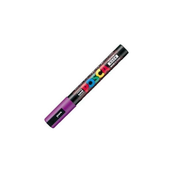 送料無料 業務用200セット 三菱鉛筆 ポスカ POP用マーカー 水性インク 〔中字 品質保証 紫〕 信託 PC-5M.12