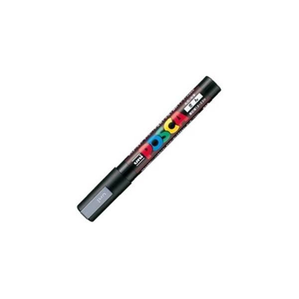 送料無料 業務用200セット おすすめ 三菱鉛筆 ポスカ 訳あり POP用マーカー 銀〕 水性インクPC-5M.26 〔中字