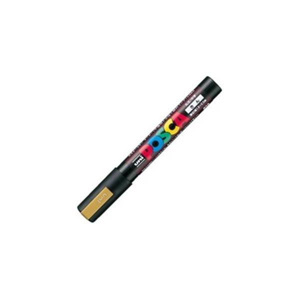 送料無料 業務用200セット 三菱鉛筆 ポスカ POP用マーカー PC-5M.25 人気ブランド 水性インク 〔中字 定番スタイル 金〕
