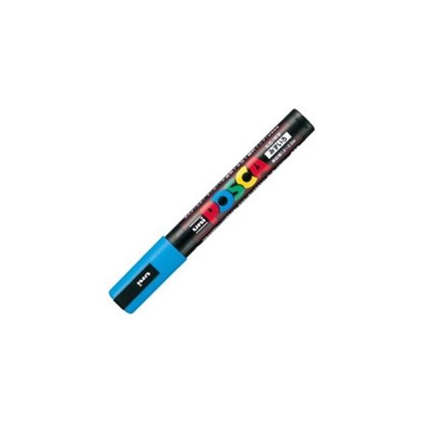 送料無料 業務用200セット 三菱鉛筆 ポスカ POP用マーカー 〔中字 水性インク 激安☆超特価 水色〕 高品質新品 PC-5M.8