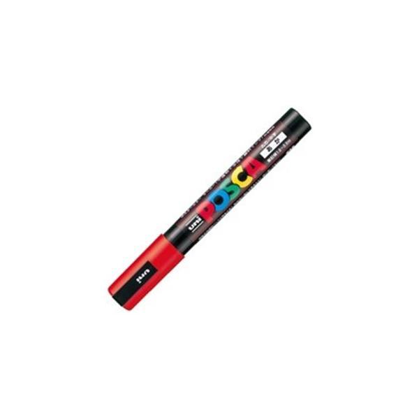 送料無料 業務用200セット 三菱鉛筆 ポスカ POP用マーカー 水性インク PC-5M.15 赤〕 割引 1年保証 〔中字