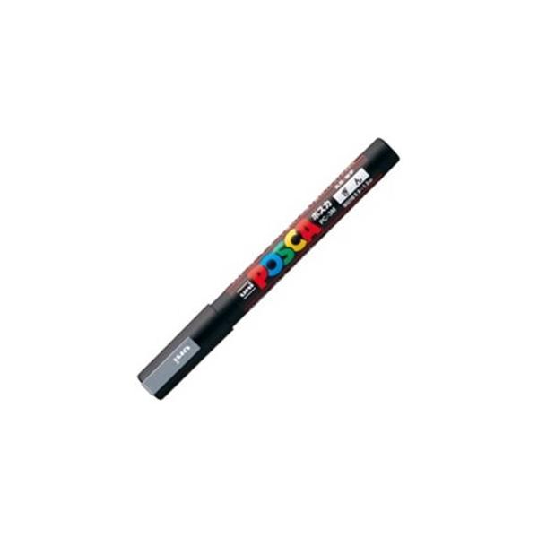 送料無料 実物 業務用200セット 公式 三菱鉛筆 ポスカ 水性インクPC-3M.26 POP用マーカー 銀〕 〔細字