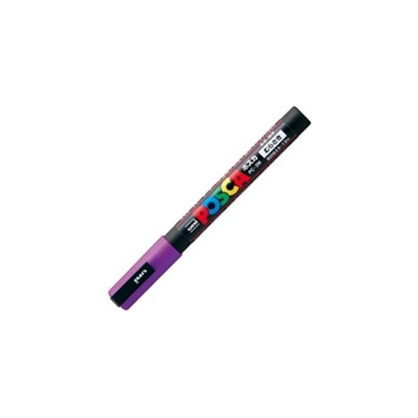 送料無料 代引き不可 業務用200セット 三菱鉛筆 ポスカ POP用マーカー 〔細字 紫〕 着後レビューで PC-3M.12 水性インク