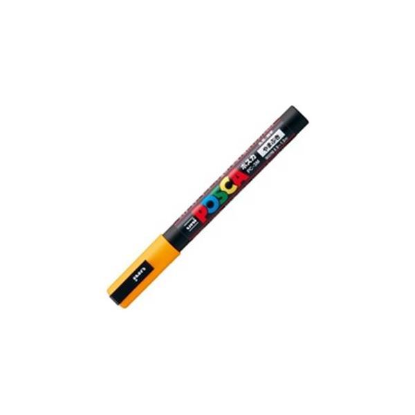 送料無料 業務用200セット 三菱鉛筆 ポスカ POP用マーカー PC-3M.3 定番 〔細字 水性インク 山吹〕 マート