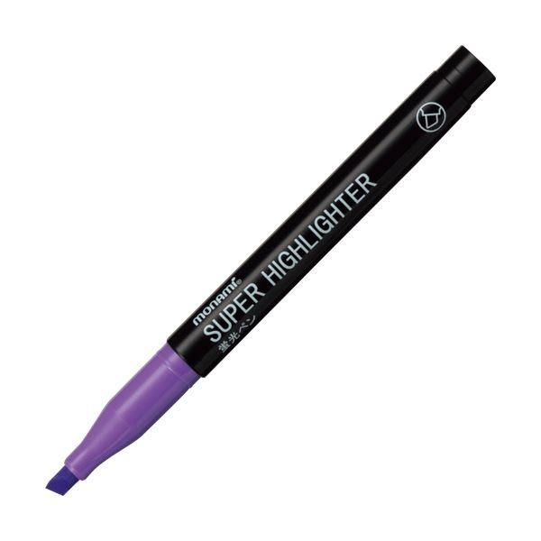 送料無料 (まとめ) モナミ 蛍光ペン SUPERHIGHLIGHTER 紫 18406 1本 〔×100セット〕