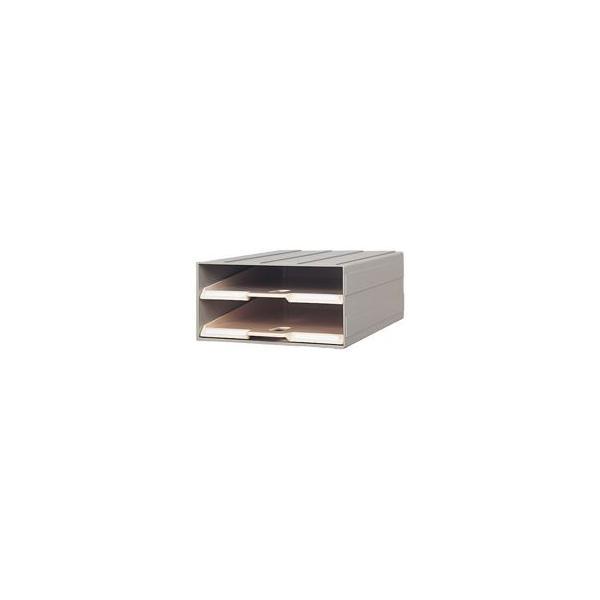 送料無料 サカセ化学工業 ビジネスカセッターカタログトレー A4 2段 グレー A4-2 1台