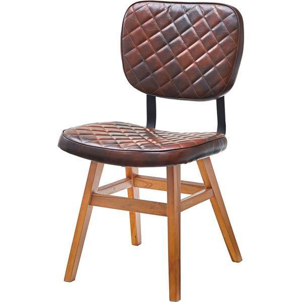送料無料 ダイニングチェア 食卓椅子 市販 国内在庫 2脚セット 〔幅46cm×奥行51cm×高さ85cm×座面高46cm〕 スチール 合成皮革 木製 合皮