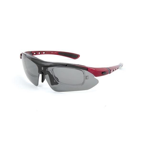送料無料 olink(オーリンク) 偏光レンズ スポーツサングラス フルセット 専用交換レンズ5枚 Olink203-RD レッド