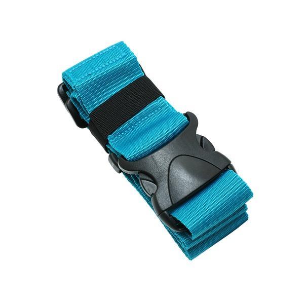 送料無料 ワンタッチスーツケースベルト ブルー MBZ-SBL01/BL