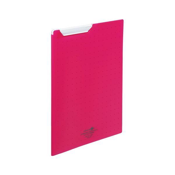 送料無料 (まとめ) LIHIT LAB クリップファイル A4判 タテ型 赤 〔×5セット〕