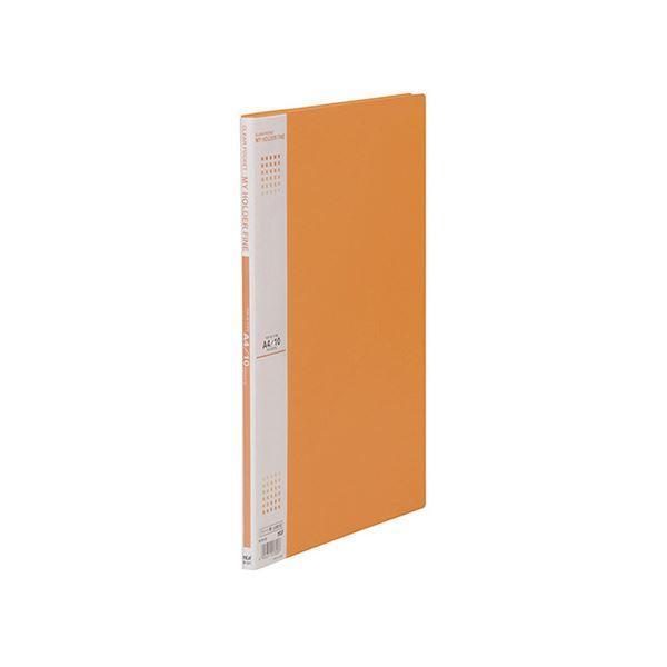 送料無料 (まとめ) テージー マイホルダーファイン A4判タテ型 10ポケット オレンジ 〔×10セット〕