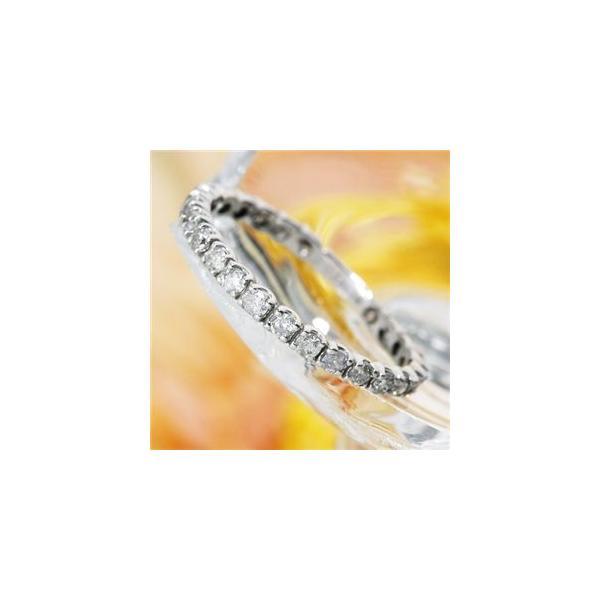 送料無料 K18WG バーゲンセール 18金ホワイトゴールド ダイヤリング エタニティリング 指輪 送料0円 125401 21号 計0.5ct
