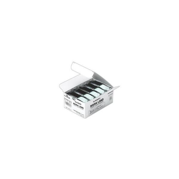 送料無料 カシオ CASIO ネームランド NAME LAND スタンダードテープ 18mm×8m 透明/黒文字 XR-18X-5P-E 1パック(5個)