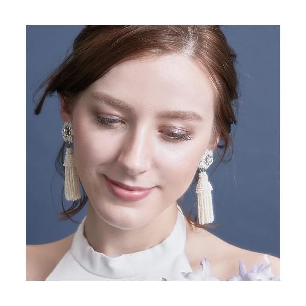 SONIA EARRING(ソニアイヤリング)(オフ)orgablanca(オルガブランカ) タッセル ビーズ フラワー ハンドメイド