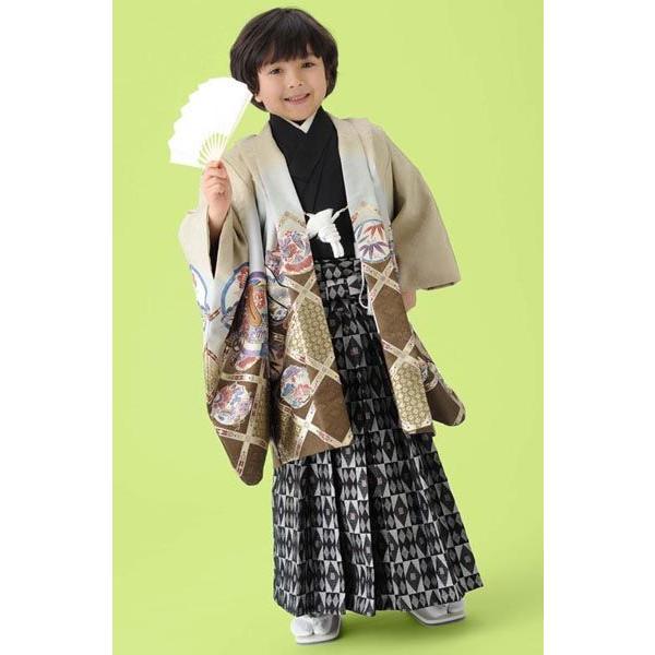 男の子5歳着物袴11点セット 和がままwaf504|maisugata