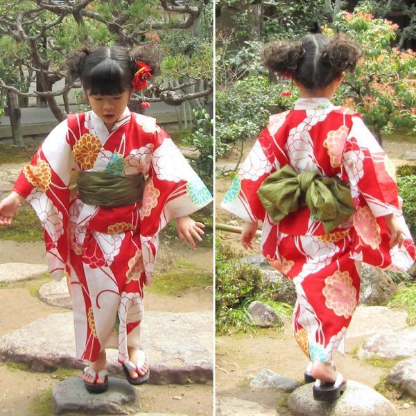 [キッズ]女の子ゆかたセット 菊 wko5 maisugata 05