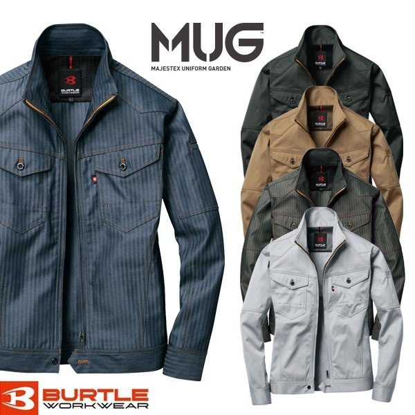 作業着 秋冬 ジャケット ユニセックス BURTLE バートル 1501 ワークジャケット 長袖 作業服 ワークウェア メンズ レディース おしゃれ かっこいい |majestextrade